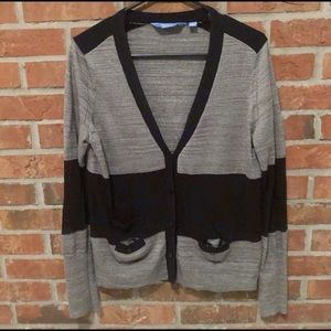 ☀️ SimplyVera Long Sleeve Mesh Cardigan Sweater